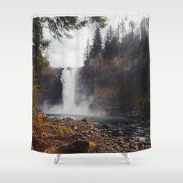 Snoqualmie Falls, WA Shower Curtain