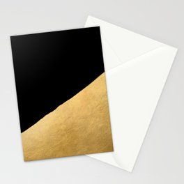 Black and gold abstract geometry (1) Stationery Cards