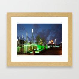 The Banks Waterfalls - Cincinnati, OH Framed Art Print