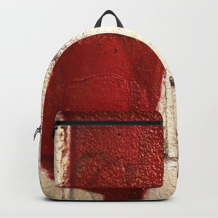 Shiny Silver Spray Paint Background Red And Black Line Urban Art Backpack