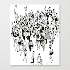 Shibuya Street Crossing Crowd Canvas Print