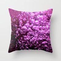 bubble Throw Pillows featuring Bubble by Louise Machado