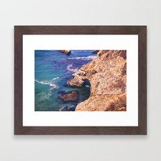 Big Sur California Cliffs Framed Art Print