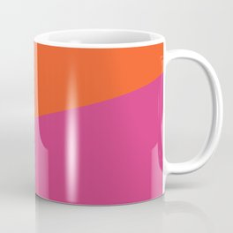 2COLOR | ORANGE + CERISE Coffee Mug