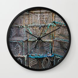 Lobster Cages Wall Clock