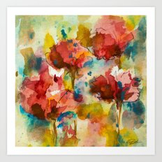 Abstract flowers Art Print