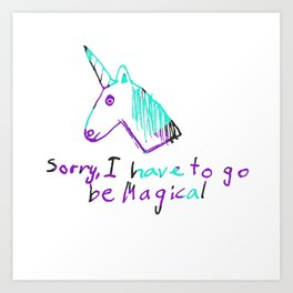 Magical Unicorn Art Print