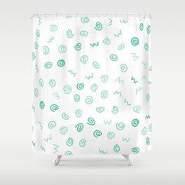 Happiness in Shapes 2 Shower Curtain