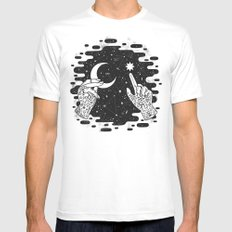 Look to the Skies Mens Fitted Tee MEDIUM White