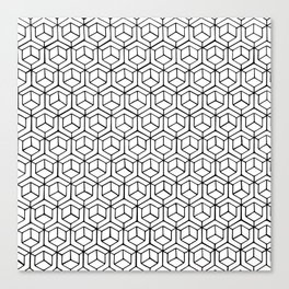 Hand Drawn Hypercube Canvas Print