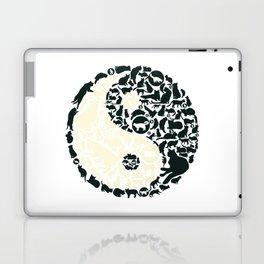 Yin-Yang Cats - FELT Laptop & iPad Skin