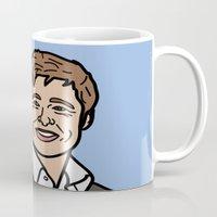 brad pitt Mugs featuring Brad Pitt by agr_artwork