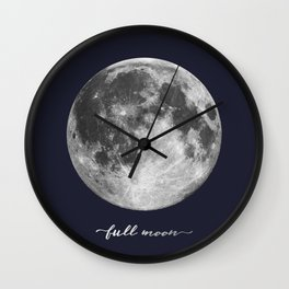 Full Moon on Navy English Wall Clock