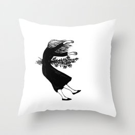 Death by flowers Throw Pillow