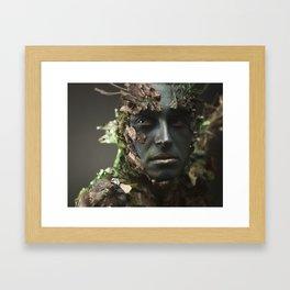 Gaze off Framed Art Print