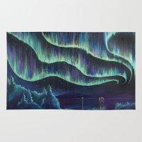 night sky Area & Throw Rugs featuring Night Sky by Jolene Mackie