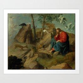 Christ in the Wilderness Moretto da Brescia (Alessandro Bonvicino) Art Print