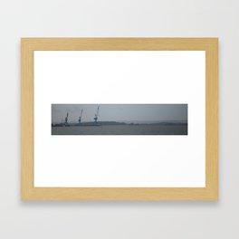 Blue Crane Framed Art Print