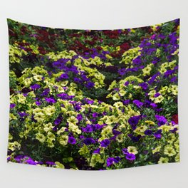 Waves of Petunias Wall Tapestry