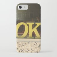 kim sy ok iPhone & iPod Cases featuring OK by Michelle & Chris Gerard