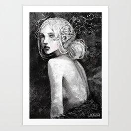 Lavellan black and white Art Print