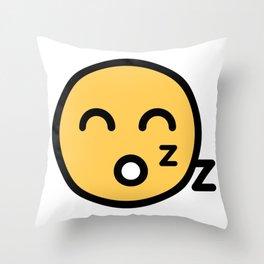 Smiley Face   Sleeping Funny Smileys Throw Pillow