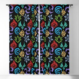 genshin pattern Blackout Curtain