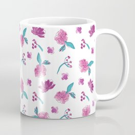 Beautiful Cute Flowers Pattern Print Coffee Mug