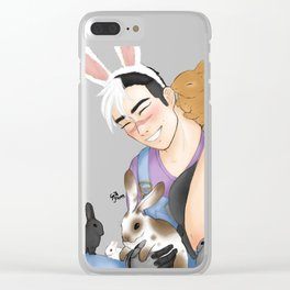 shiro with bunnies Clear iPhone Case