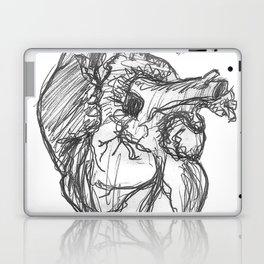Anatomical Heart Ink Sketch Laptop & iPad Skin