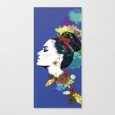 Blue Bun  Canvas Print