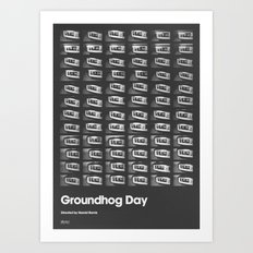 A MOVIE POSTER A DAY: GROUNDHOG DAY. Art Print