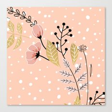 Vector flowers pink Canvas Print