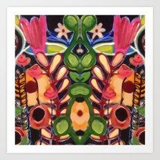Mirrored Garden Art Print