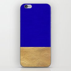 Color Blocked Gold & Cerulean iPhone & iPod Skin