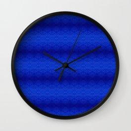 Blue Tiki Pattern Wall Clock