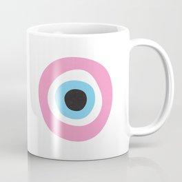 Pink Evil Eye Symbol Coffee Mug