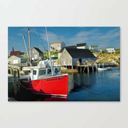 The Boat Harbour Mist in Peggy's Cove Canvas Print