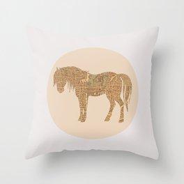 Percheron in Paris Throw Pillow