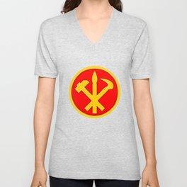 Workers Party of Korea emblem symbol Unisex V-Neck
