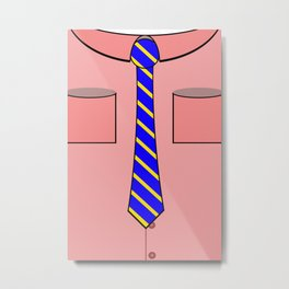 Pink shirt and tie Metal Print