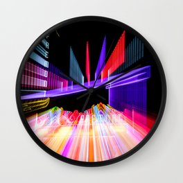 Moving Out zoom burst photograph Fremont Theater San Luis Wall Clock
