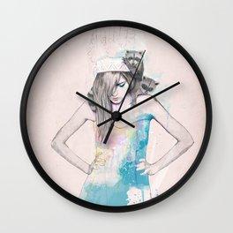 Raccoon Love Wall Clock