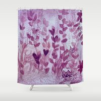 a lot of cats Shower Curtains featuring hiding cats by Bunny Noir