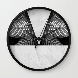 Tropical and marble Wall Clock