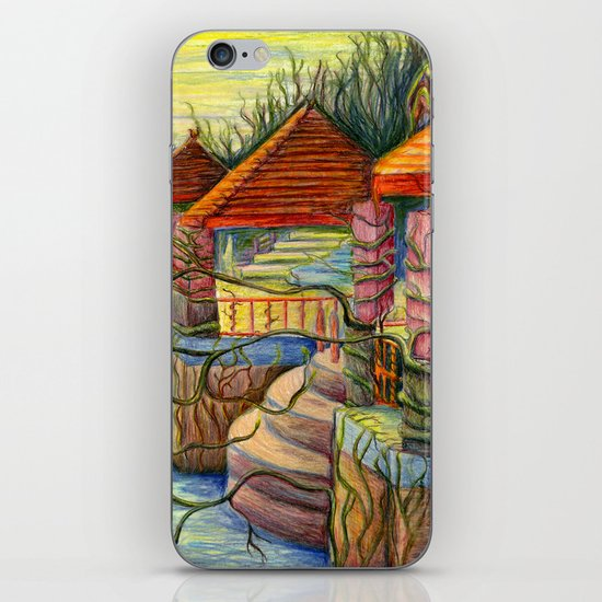 Pulling You In - Colored Pencil Drawing iPhone & iPod Skin