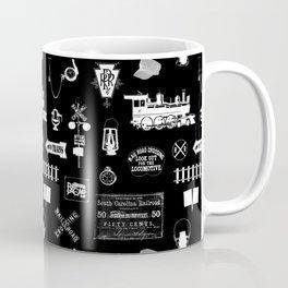 Railroad Symbols on Black Coffee Mug