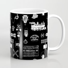 Railroad Symbols on Black Coffee Mug