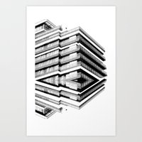 budapest hotel Art Prints featuring Hotel Merriot Budapest. Deconstruction by Villaraco