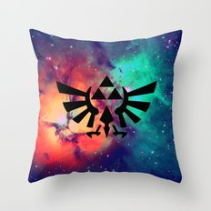 The Legend of Zelda Triforce Multicolored Stars Throw Pillow